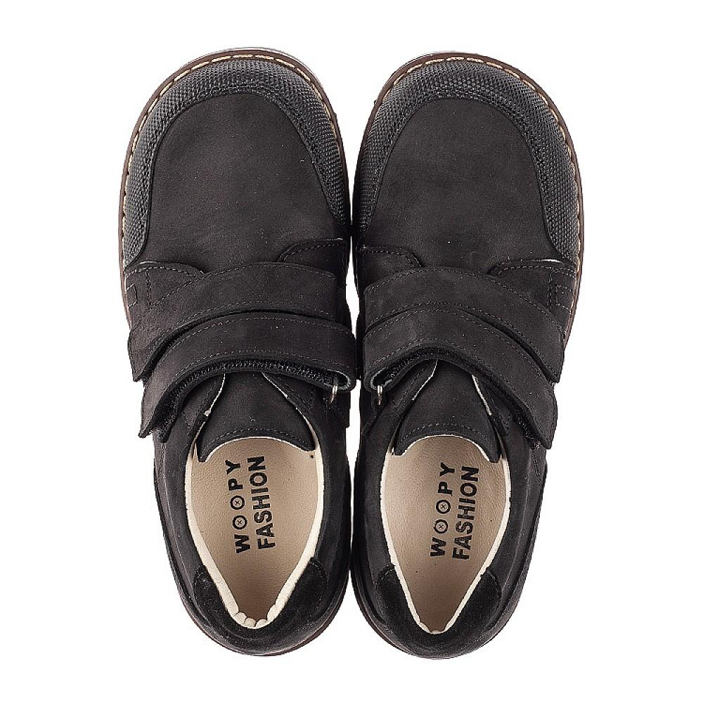 Детские туфли Woopy Orthopedic черные для мальчиков натуральный нубук размер 30-36 (7017) Фото 5