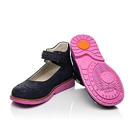 Детские туфли Woopy Orthopedic темно-синие для девочек натуральный нубук размер 28-36 (7020) Фото 2
