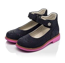 Детские туфли Woopy Orthopedic темно-синие для девочек натуральный нубук размер 28-36 (7020) Фото 3