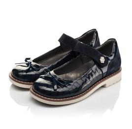 Детские туфли Woopy Orthopedic синие для девочек натуральная лаковая кожа размер 28-36 (7024) Фото 3