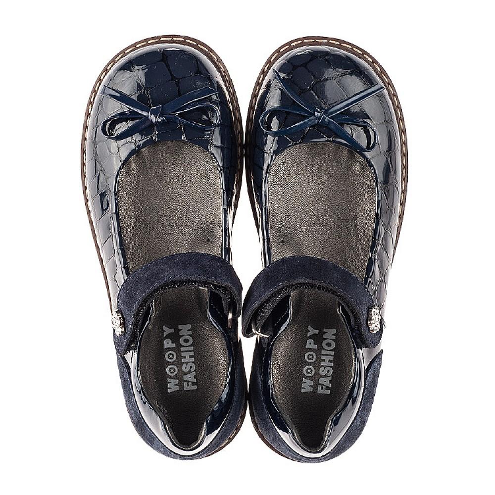 Детские туфли Woopy Orthopedic синие для девочек натуральная лаковая кожа размер 28-36 (7024) Фото 5