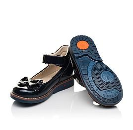 Детские туфли Woopy Orthopedic темно-синие для девочек натуральная лаковая кожа размер 28-36 (7025) Фото 2