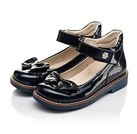 Детские туфли Woopy Orthopedic темно-синие для девочек натуральная лаковая кожа размер 28-36 (7025) Фото 3