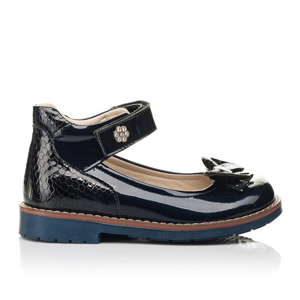Детские туфли Woopy Orthopedic темно-синие для девочек натуральная лаковая кожа размер 28-36 (7025) Фото 4