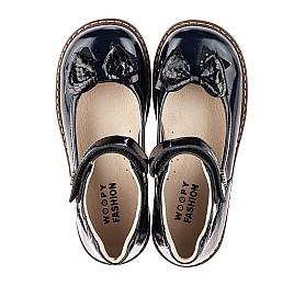 Детские туфли Woopy Orthopedic темно-синие для девочек натуральная лаковая кожа размер 28-36 (7025) Фото 5