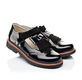 Детские туфли Woopy Orthopedic черные для девочек натуральная лаковая кожа размер 38-38 (7026) Фото 1