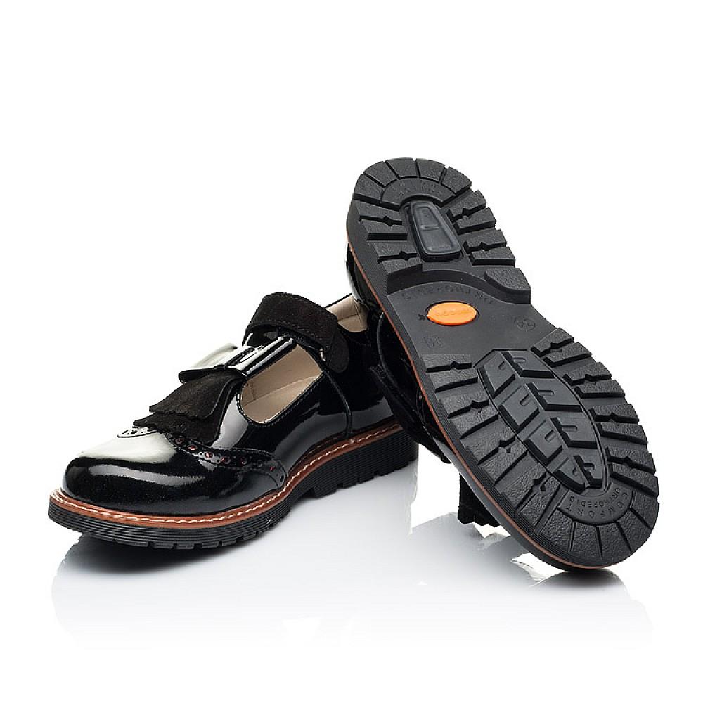 Детские туфли Woopy Orthopedic черные для девочек натуральная лаковая кожа размер 31-39 (7026) Фото 2