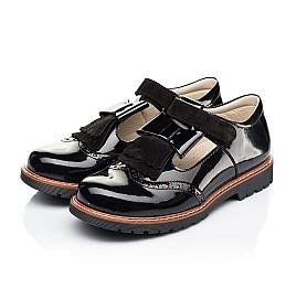 Детские туфли Woopy Orthopedic черные для девочек натуральная лаковая кожа размер 38-38 (7026) Фото 3
