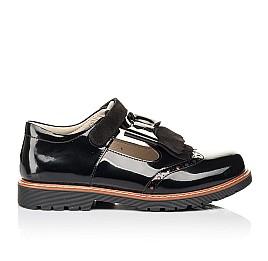 Детские туфли Woopy Orthopedic черные для девочек натуральная лаковая кожа размер 38-38 (7026) Фото 4