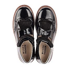 Детские туфли Woopy Orthopedic черные для девочек натуральная лаковая кожа размер 38-38 (7026) Фото 5