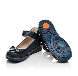 Детские туфли Woopy Orthopedic синие для девочек натуральная кожа размер 28-36 (7027) Фото 2