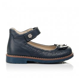Детские туфли Woopy Orthopedic синие для девочек натуральная кожа размер 28-36 (7027) Фото 4