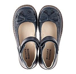 Детские туфли Woopy Orthopedic синие для девочек натуральная кожа размер 28-36 (7027) Фото 5