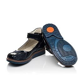 Детские туфли Woopy Orthopedic темно-синие для девочек натуральная лаковая кожа размер 29-36 (7028) Фото 2