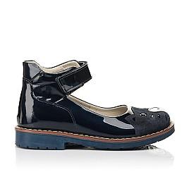 Детские туфли Woopy Orthopedic темно-синие для девочек натуральная лаковая кожа размер 29-36 (7028) Фото 4