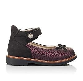 Детские туфли Woopy Orthopedic бордовые для девочек натуральный нубук размер 28-33 (7029) Фото 4