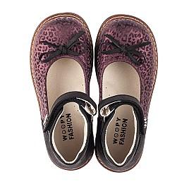 Детские туфли Woopy Orthopedic бордовые для девочек натуральный нубук размер 28-33 (7029) Фото 5