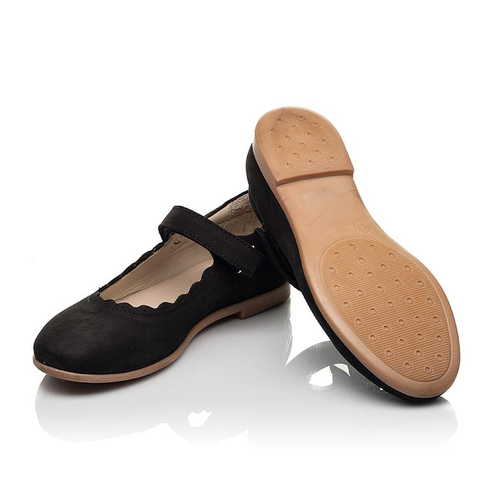Детские туфли Woopy Orthopedic черные для девочек натуральный нубук размер 26-36 (7030) Фото 2