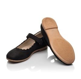Детские туфли Woopy Orthopedic черные для девочек натуральный нубук размер 28-35 (7030) Фото 2