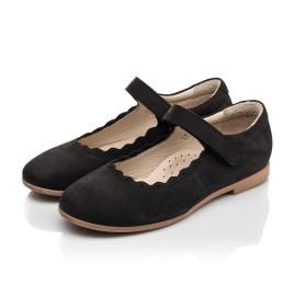 Детские туфли Woopy Orthopedic черные для девочек натуральный нубук размер 28-35 (7030) Фото 3