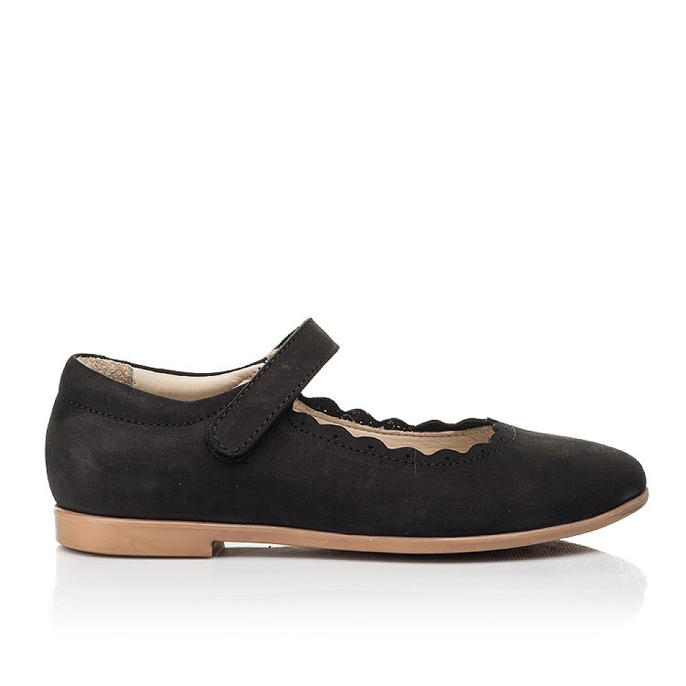 Детские туфли Woopy Orthopedic черные для девочек натуральный нубук размер 26-36 (7030) Фото 4