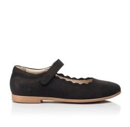 Детские туфли Woopy Orthopedic черные для девочек натуральный нубук размер 28-35 (7030) Фото 4