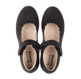 Детские туфли Woopy Orthopedic черные для девочек натуральный нубук размер 28-35 (7030) Фото 5