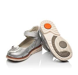 Детские туфли Woopy Orthopedic серые для девочек натуральная кожа размер 24-34 (7031) Фото 2