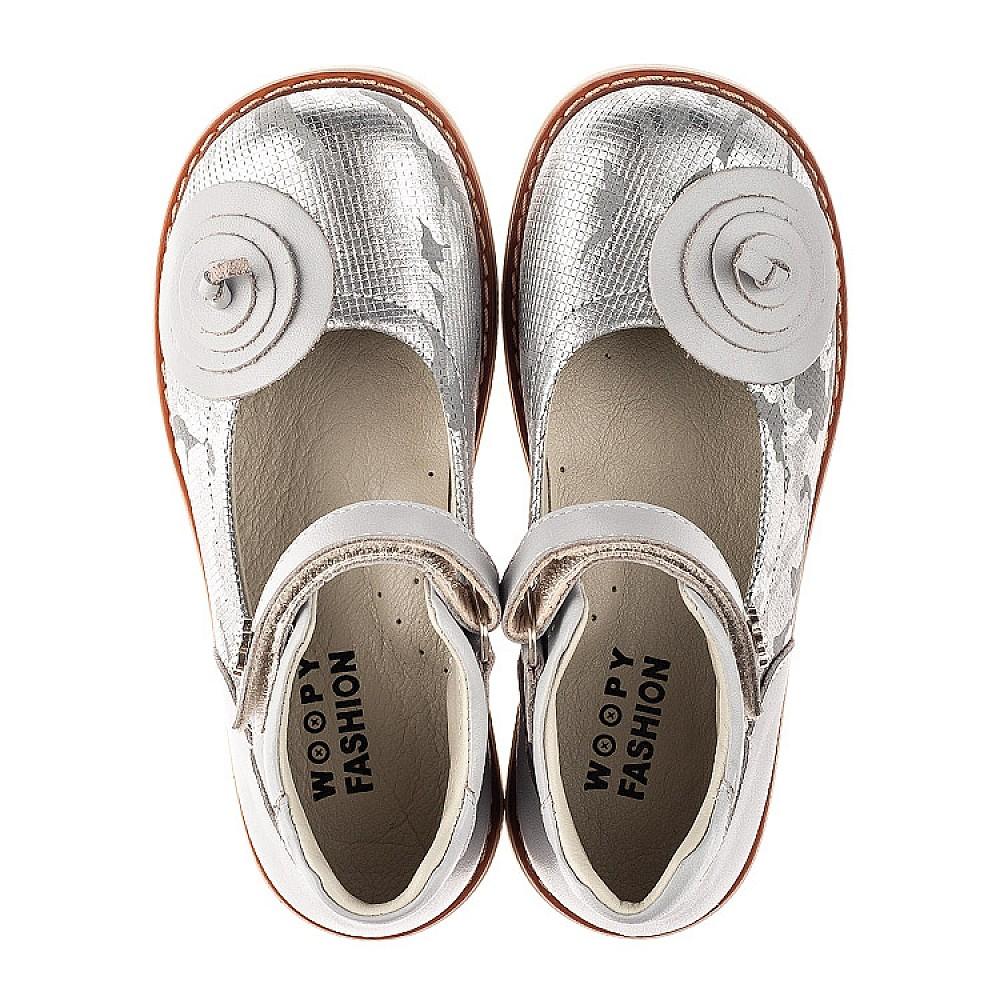 Детские туфли Woopy Orthopedic серые для девочек натуральная кожа размер 24-34 (7031) Фото 5