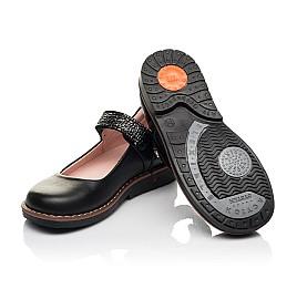 Детские туфли Woopy Orthopedic черные для девочек натуральная кожа размер 29-35 (7032) Фото 2