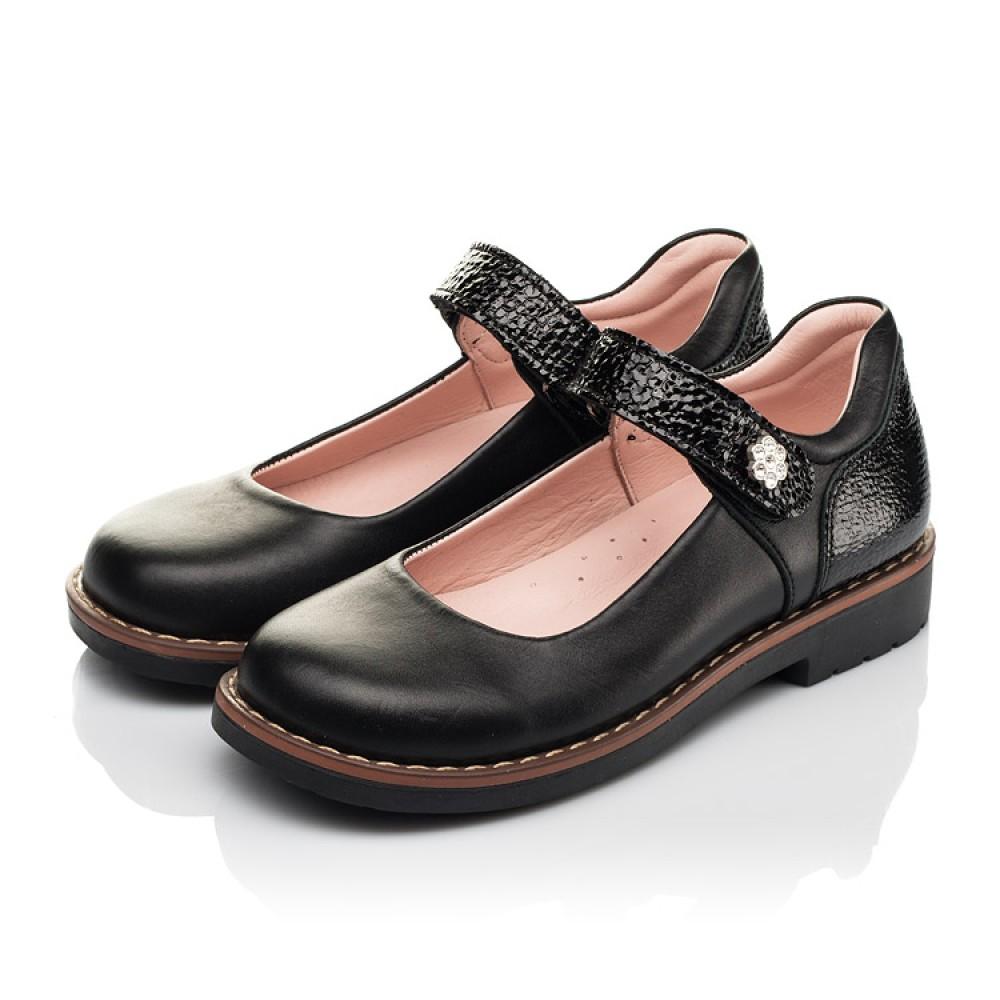 Детские туфли Woopy Orthopedic черные для девочек натуральная кожа размер 29-35 (7032) Фото 3