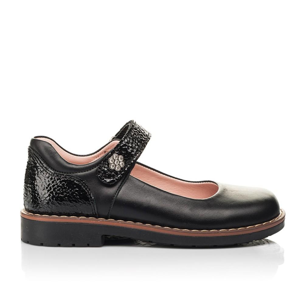Детские туфли Woopy Orthopedic черные для девочек натуральная кожа размер 29-35 (7032) Фото 4