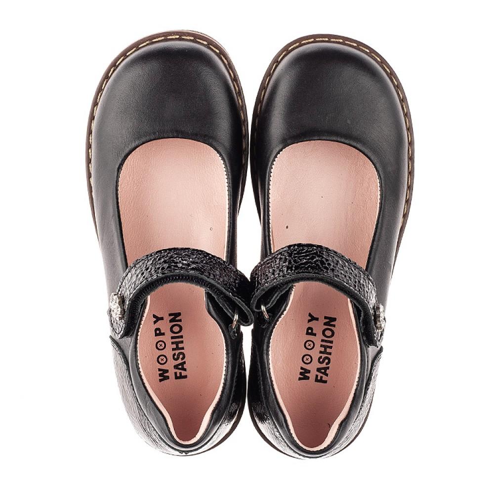 Детские туфли Woopy Orthopedic черные для девочек натуральная кожа размер 29-35 (7032) Фото 5