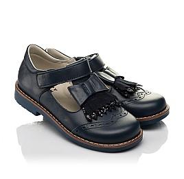 Детские туфли Woopy Orthopedic синие для девочек натуральная кожа размер 29-33 (7033) Фото 1