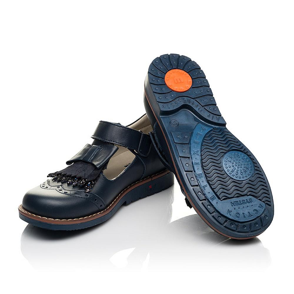Детские туфли Woopy Orthopedic синие для девочек натуральная кожа размер 29-33 (7033) Фото 2