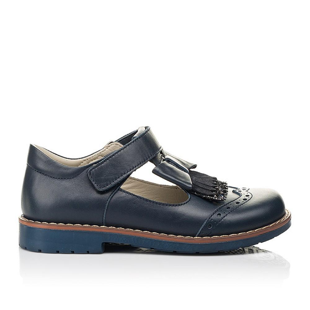 Детские туфли Woopy Orthopedic синие для девочек натуральная кожа размер 29-33 (7033) Фото 4