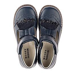Детские туфли Woopy Orthopedic синие для девочек натуральная кожа размер 29-33 (7033) Фото 5
