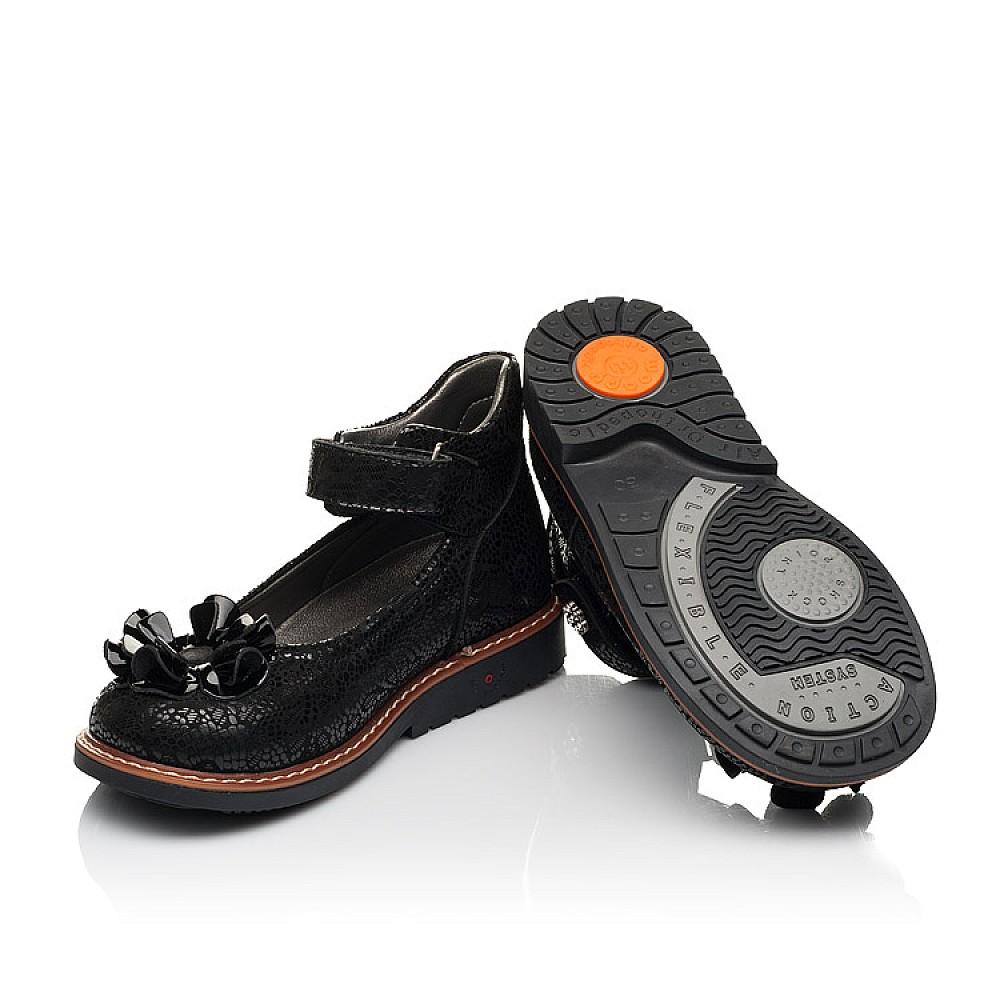 Детские туфли Woopy Orthopedic черные для девочек натуральный нубук размер 26-33 (7034) Фото 2