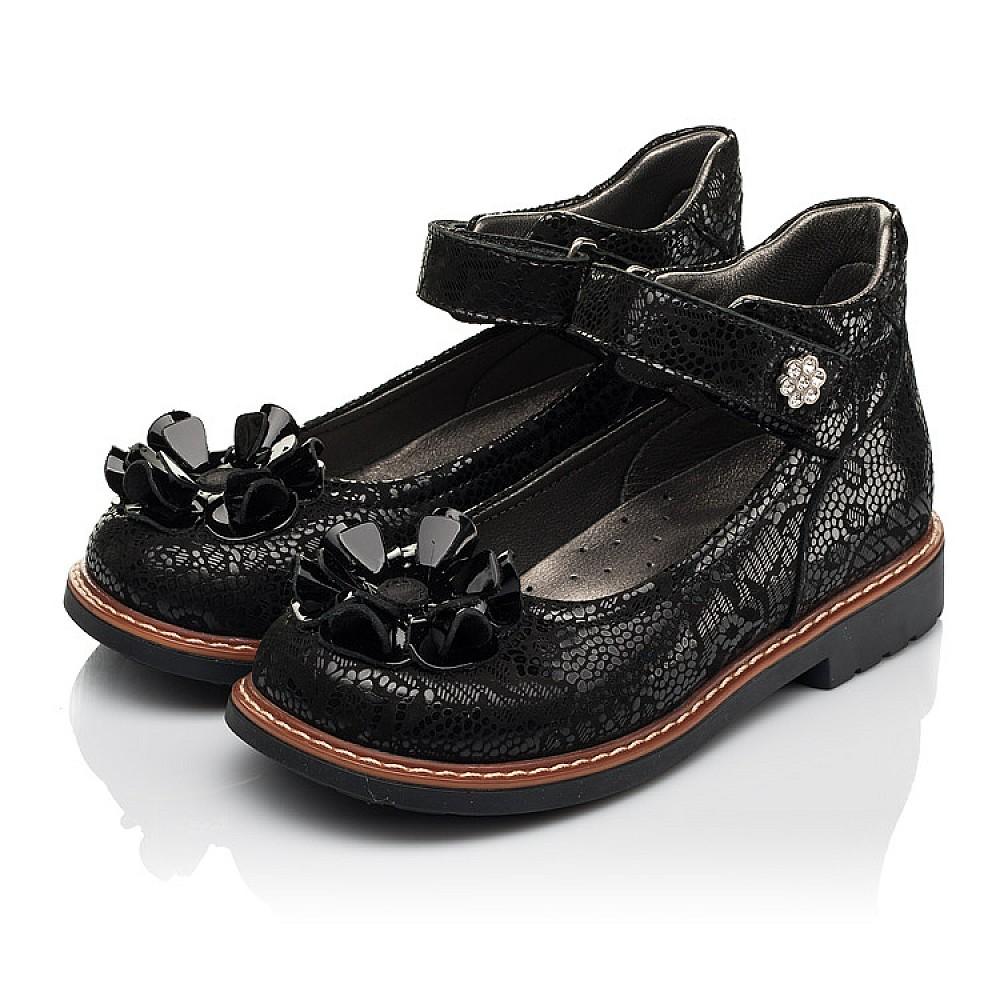 Детские туфли Woopy Orthopedic черные для девочек натуральный нубук размер 26-33 (7034) Фото 3