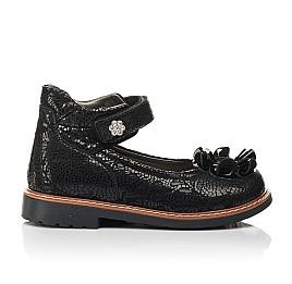 Детские туфли Woopy Orthopedic черные для девочек натуральный нубук размер 26-33 (7034) Фото 4