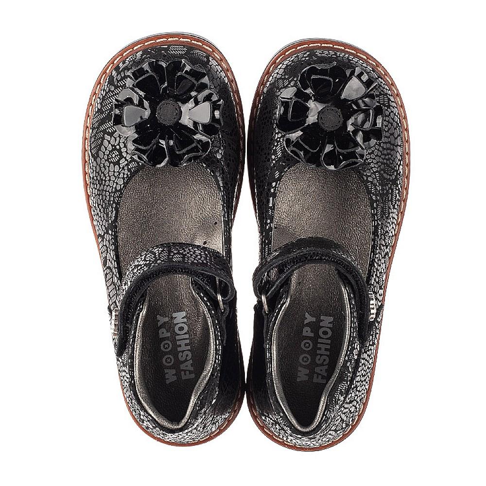 Детские туфли Woopy Orthopedic черные для девочек натуральный нубук размер 26-33 (7034) Фото 5