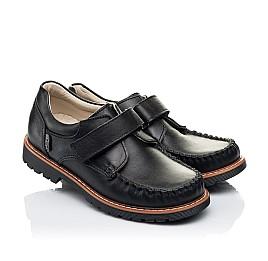 Детские туфли Woopy Orthopedic черные для мальчиков натуральная кожа размер 24-34 (7035) Фото 1
