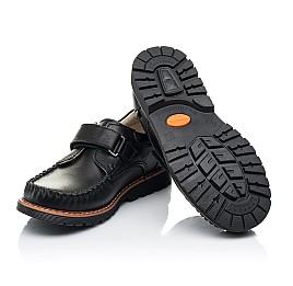Детские туфли Woopy Orthopedic черные для мальчиков натуральная кожа размер 24-34 (7035) Фото 2