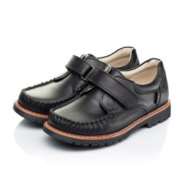 Детские туфли Woopy Orthopedic черные для мальчиков натуральная кожа размер 24-35 (7035) Фото 3