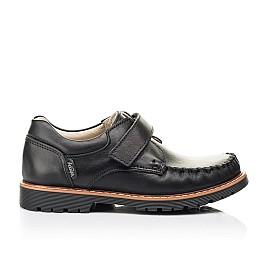 Детские туфли Woopy Orthopedic черные для мальчиков натуральная кожа размер 24-34 (7035) Фото 4
