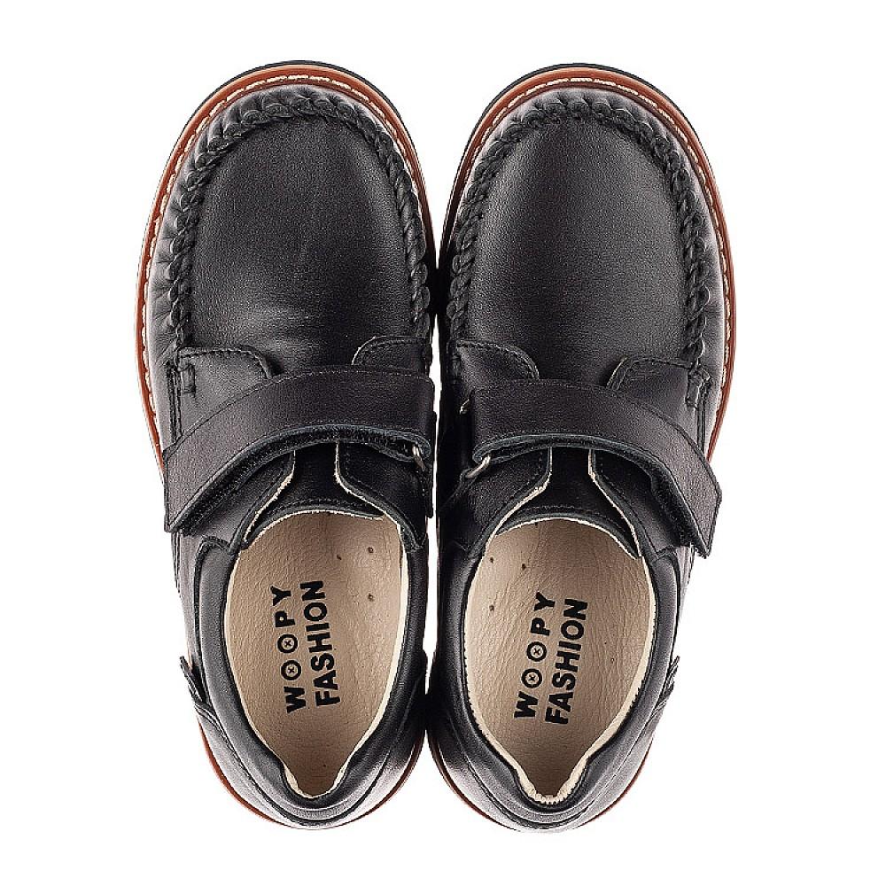 Детские туфли Woopy Orthopedic черные для мальчиков натуральная кожа размер 24-35 (7035) Фото 5