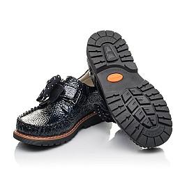Детские туфли Woopy Orthopedic синие для девочек натуральная лаковая кожа размер 29-38 (7037) Фото 2