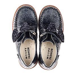 Детские туфли Woopy Orthopedic синие для девочек натуральная лаковая кожа размер 29-38 (7037) Фото 5