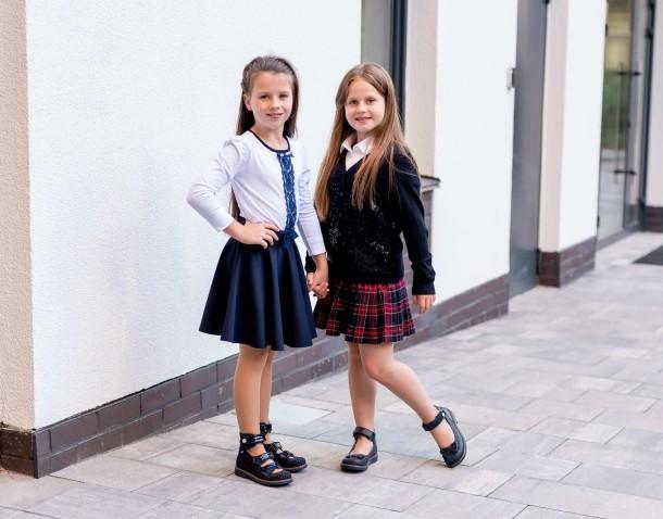 Девочка обута в детские ортопедические туфли (с высоким берцем) Woopy Orthopedic синие (7039) Фото 2