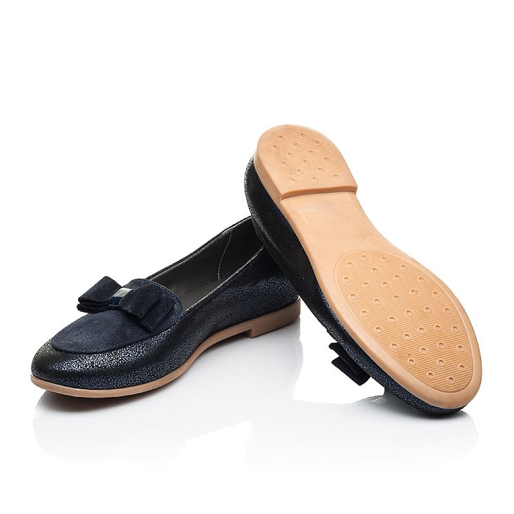 Детские туфли Woopy Fashion синие для девочек натуральный нубук и замша размер 35-40 (7040) Фото 2